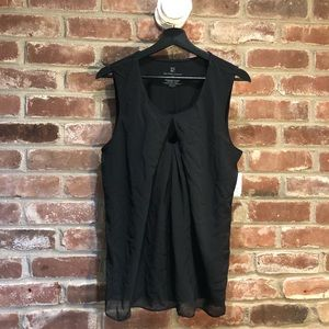 NWT Sheer overlay with keyhole and pleating detail